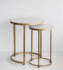 Nesting Tables Round Nesting Tables Brass Set Of 2 Father Rabbit Limited