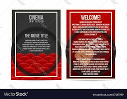 invitation flyer cinema poster invitation flyer template a4 size vector image on vectorstock