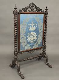 victorian fire screens lot no 52 a victorian rosewood fire screen with embroidered panel