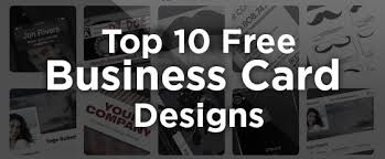 10 Free Business Cards 10 Great Free Business Card Design Templates