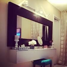 best burs wall shelf turned into a makeup vanity ikea