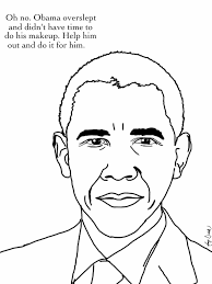 Obama Coloring Page Coloring Pages President Obama Coloring Page ...