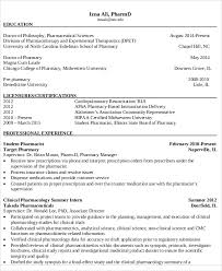 Modern Hospital Pharmacist Resume 7 Pharmacist Curriculum Vitae Templates Free Word Pdf Format