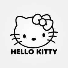 Hello Kitty Head Svg Clipart Line Art Svgbomb Com