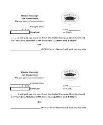 Pick Up Receipt Template Customer Order Form Slip Late Printable ...