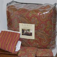 paisley pattern ralph lauren comforter set for bedroom decoration ideas