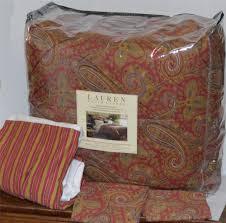 paisley pattern ralph lauren comforter set for bedroom decoration ideas