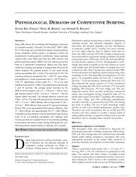 (PDF) Physiological Demands of <b>Competitive Surfing</b>