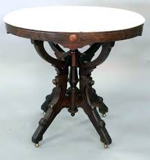marble top accent table small faux french round end marbl