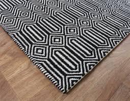 sloan black and white geometric rug