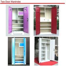cloth cabinet factory double doors simple steel cupboard locker design for clothes wardrobe bedroom chea