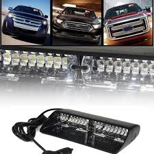 16 led high intensity warning strobe lights law enforcement emergency for interior roof dash windshield with suction cups 26 39