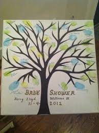 Baby shower sign in tree. Everyone that comes to the shower signs their  name next to a leaf. So cute!!! Thank…   Baby shower signs, Baby shower  vintage, Baby shower