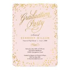 Graduation Party Announcement Graduation Party Invitation Shiny Confetti Graduation Party