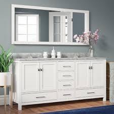 white double sink vanity. Plain Vanity Quickview Willa Arlo Interiors Serigne 73 Inside White Double Sink Vanity