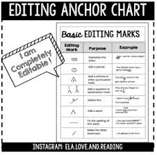 Printable Editing Marks Chart Grammar Editing Marks Worksheets Teaching Resources Tpt