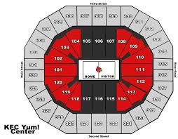 Yum Center Seating Chart Louisville Basketball Kfc Yum Center Yum Center Review Kfc Yum Center Louisville