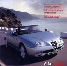 Details About Catalogue Prospekt Brochure Alfa Romeo Spider Colours Colour Chart 2003 Show Original Title