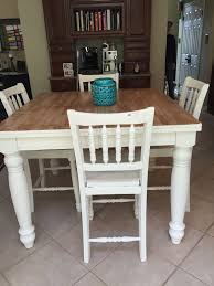 refinished pub table with chalk paint
