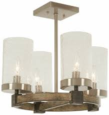 Minka Lavery 4 Light Minka Lavery 4637 106 Bridlewood 4 Light Stone Grey Semi Flush Mount
