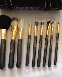 professional 9 piece brushes m a c makeup travel brush set