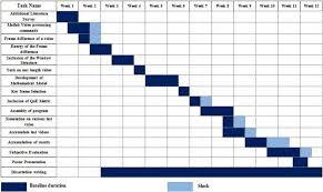 Gantt Chart Of Work Plan Of 12 Weeks Download Scientific