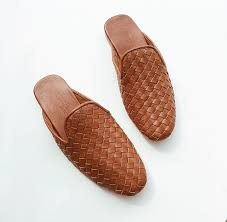 ashley summer men woven leather loafers women leather