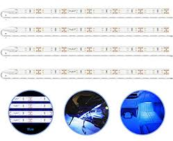 PryEU <b>Blue</b> (465-475nm) <b>LED</b> Strip Lights <b>12V</b> Waterproof for <b>Auto</b> ...