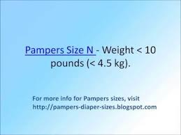 Pampers Diapers Size Chart Weight Pampers Size Chart By Weight Youtube