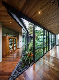 House Interior Garden Design This Triangular Shaped House Makes Room For An Interior Garden