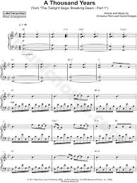 A Thousand Years Sheet Music