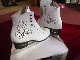 Details About Tara Lipinski Autographed Custom Harlick Figure Skates Womens Size 4 Nib