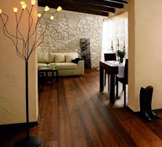 Wood Flooring For Living Room Dark Brown Rustic Wood Flooring Ideas Combined With Black Accents
