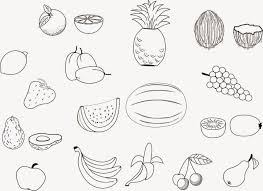 Fruit Coloring Pages At Getdrawingscom Free For Personal Use