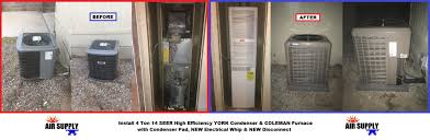 york 4 ton. w hartman 4 ton york condenser \u0026 coleman furnace - with words york