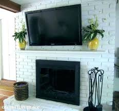 hanging tv on brick fireplace mount to brick fireplace brick fireplace mount installing wall install tv