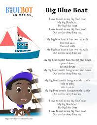 Bluebo… Boat Animation Nursery Free Lyrics Page By Printable Blue Bluebot Lyrics Nurse… Big Rhyme