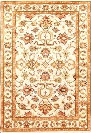 pink white gold rug vintage traditional hand knotted x