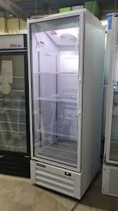 single door glass display cooler display cooler certified pre owned cooler