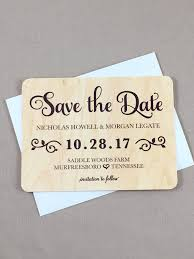 elegant rustic faux wood save the date notecards with a2 envelopes ja1
