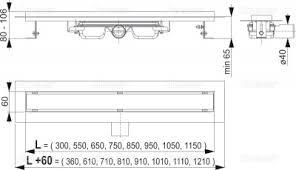 Водоотводящий желоб <b>APZ106</b>-300 Professional Low <b>AlcaPlast</b> ...