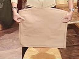 make paper template to use as slipcover pattern