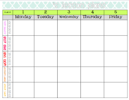 Downloadable Lesson Plan Templates Lesson Plan Calendar Template Word Lesson Plan Template Printable