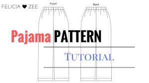 Pajama Jeans Size Chart How To Make A Pajama Pants Pattern