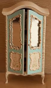 mini doll house furniture. vintage dollhouse miniature 112 scale baby boy blue linen armoire mini doll house furniture