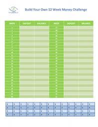 Saving Money Chart 52 Week Build Your Own 52 Week Money Challenge Chart Savingadvice