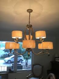 modern chandelier silver metal less than a year old for