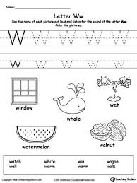 Word beginning and ending worksheets. Words Starting With Letter W Preschool Letters Letter W Worksheets Letter W Activities