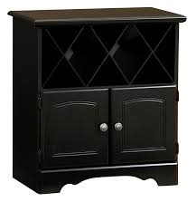 Wine Cabinet Black Lane Furniture Wine Cabinet With Bottle Storage In Black Home