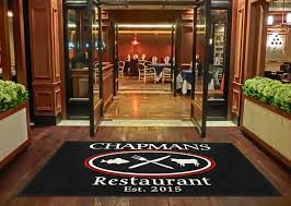 custom restaurant logo rug